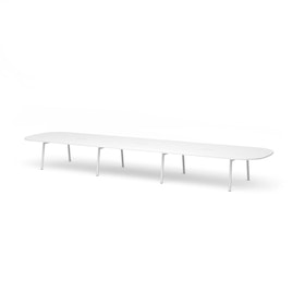 "Series A Scale Racetrack Conference Table, White, 246x60"", White Legs"