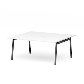 "Series A Scale Rectangular Conference Table, White, 66x60"", Charcoal Legs"