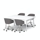 """Series A Scale Rectangular Conference Table, White, 66x60"""", White Legs,White,hi-res"""