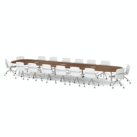 Series A Scale Racetrack Conference Table, White Legs
