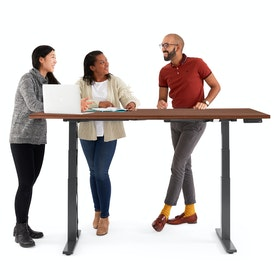 Series L Adjustable Height Table, Charcoal Legs