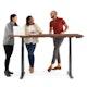 """Series L Adjustable Height Table, Walnut, 72"""" x 30"""", Charcoal Legs,Walnut,hi-res"""