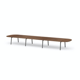 "Series A Scale Racetrack Conference Table, Walnut, 246x60"", Charcoal Legs"