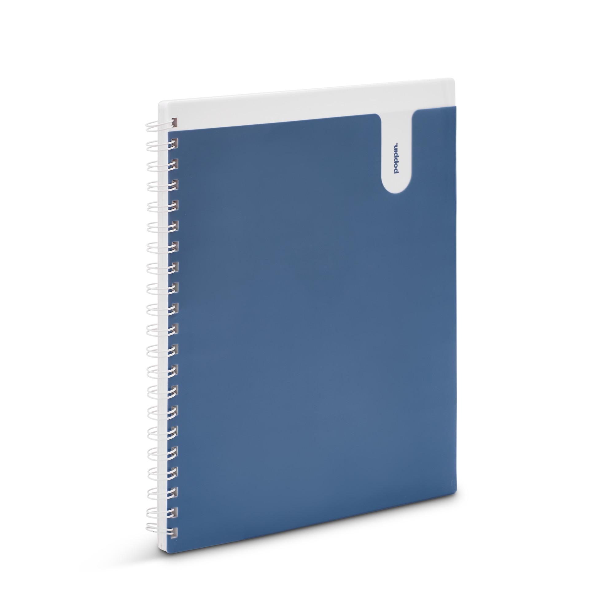 9097c69f3fcf Slate Blue 1-Subject Pocket Spiral Notebook   Notebooks   Poppin