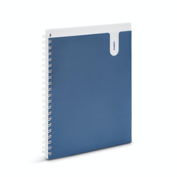 Slate Blue 1-Subject Pocket Spiral Notebook,Slate Blue,hi-res