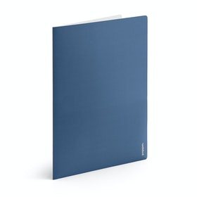 Slate Blue + Light Gray 2-Pocket Poly Folder