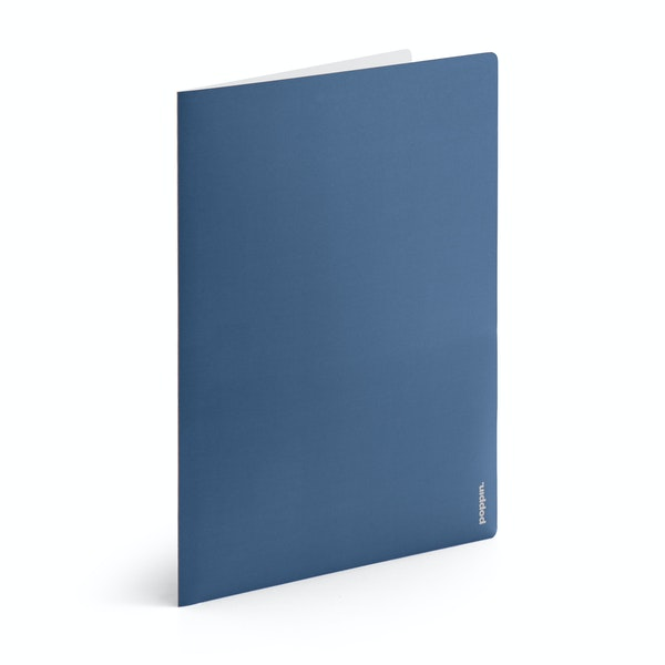 Slate Blue + Light Gray 2-Pocket Poly Folder,Slate Blue,hi-res