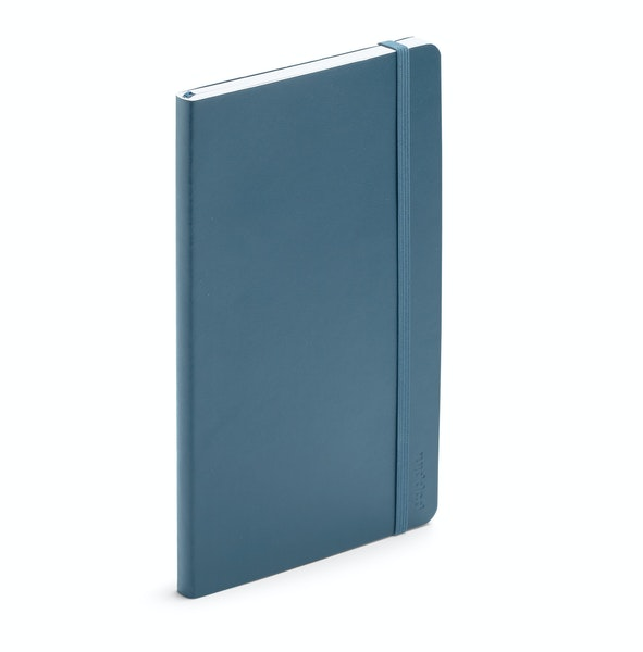 Slate Blue Medium Soft Cover Notebook,Slate Blue,hi-res