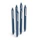 Slate Blue Retractable Gel Luxe Pens w/ Blue Ink, Set of 6,Slate Blue,hi-res