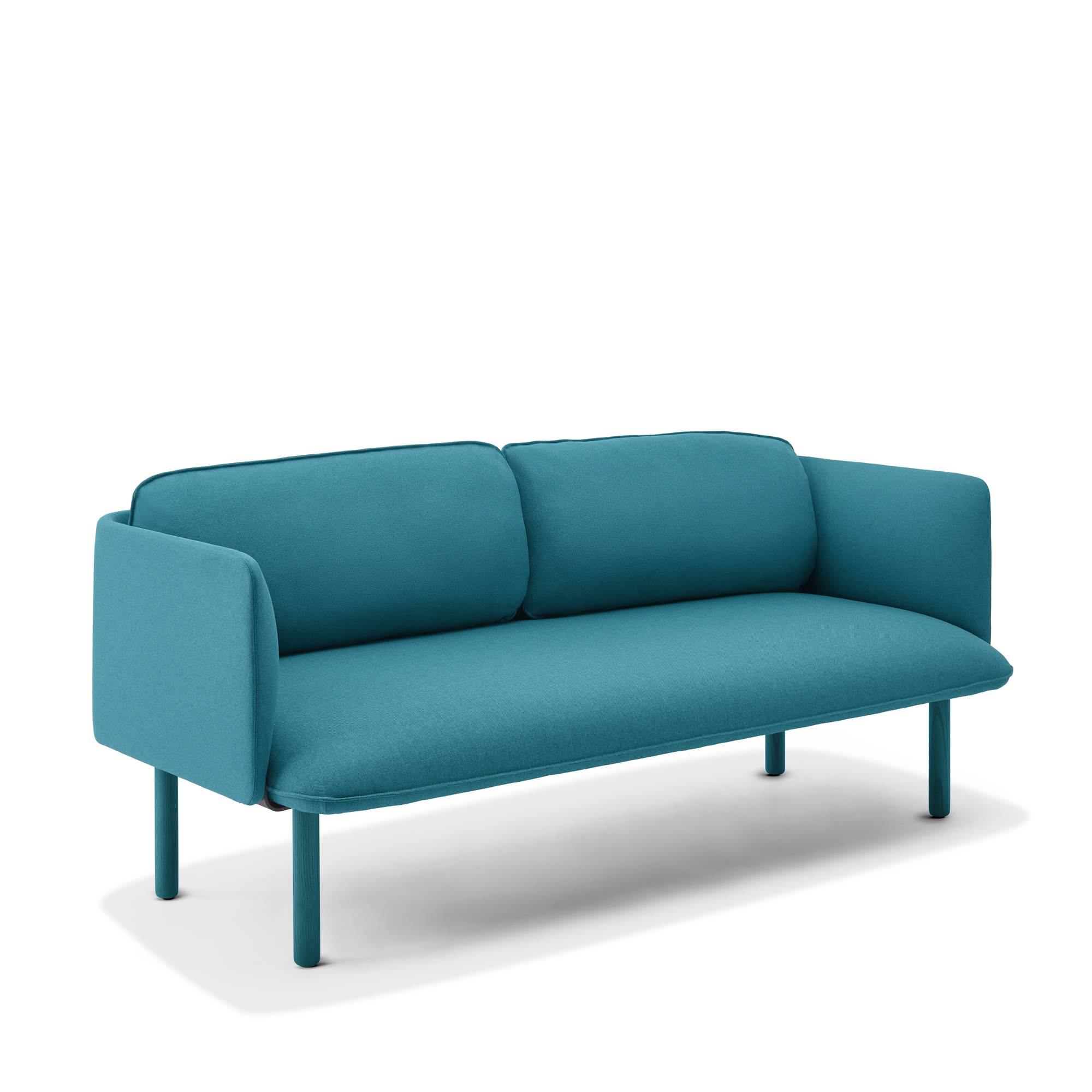 Teal QT Lounge Low Sofa | Modern Lounge Furniture | Poppin