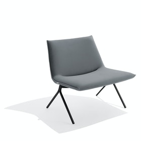 Dark Gray + Black Velvet Meredith Lounge Chair