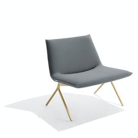 Dark Gray + Brass Velvet Meredith Lounge Chair