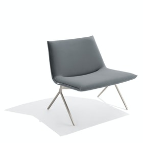 Dark Gray + Nickel Velvet Meredith Lounge Chair
