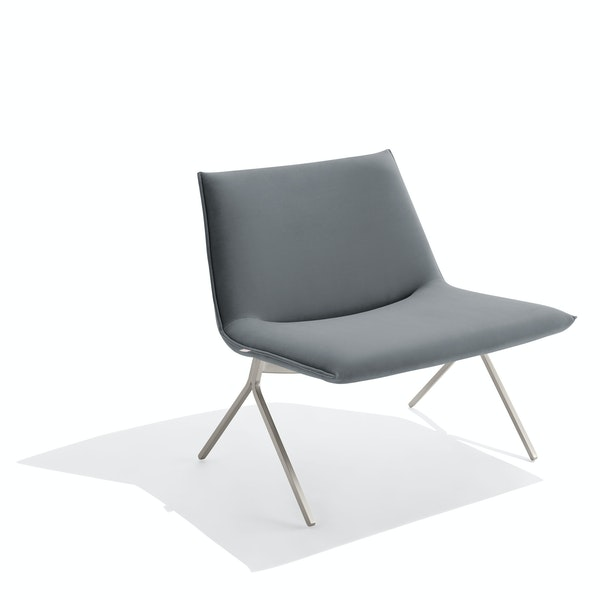Dark Gray + Nickel Velvet Meredith Lounge Chair,Dark Gray,hi-res