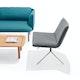 Dark Gray + Nickel Velvet Meredith Lounge Chair,Dark Gray,hi-res