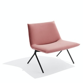 Dusty Rose + Black Velvet Meredith Lounge Chair