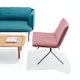 Dusty Rose + Black Velvet Meredith Lounge Chair,Dusty Rose,hi-res