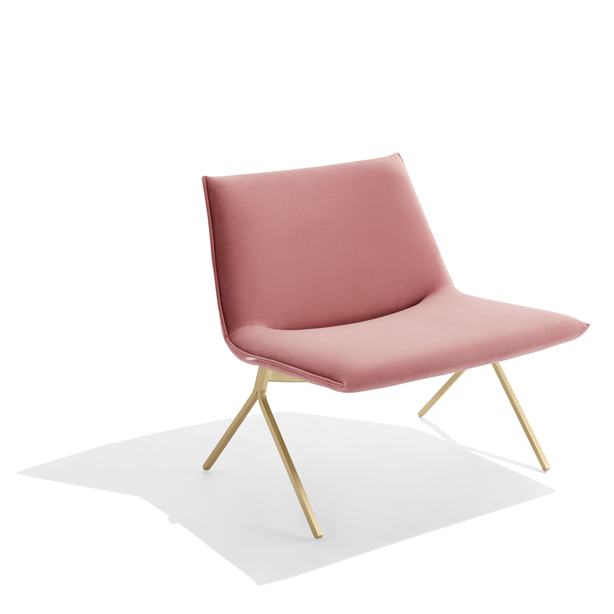 c04c25de5fd Dusty Rose + Brass Velvet Meredith Lounge Chair