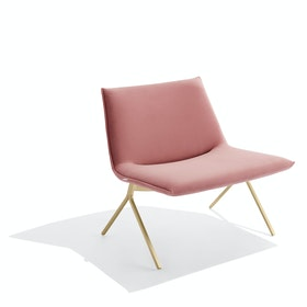 Dusty Rose + Brass Velvet Meredith Lounge Chair
