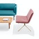 Dusty Rose + Brass Velvet Meredith Lounge Chair,Dusty Rose,hi-res