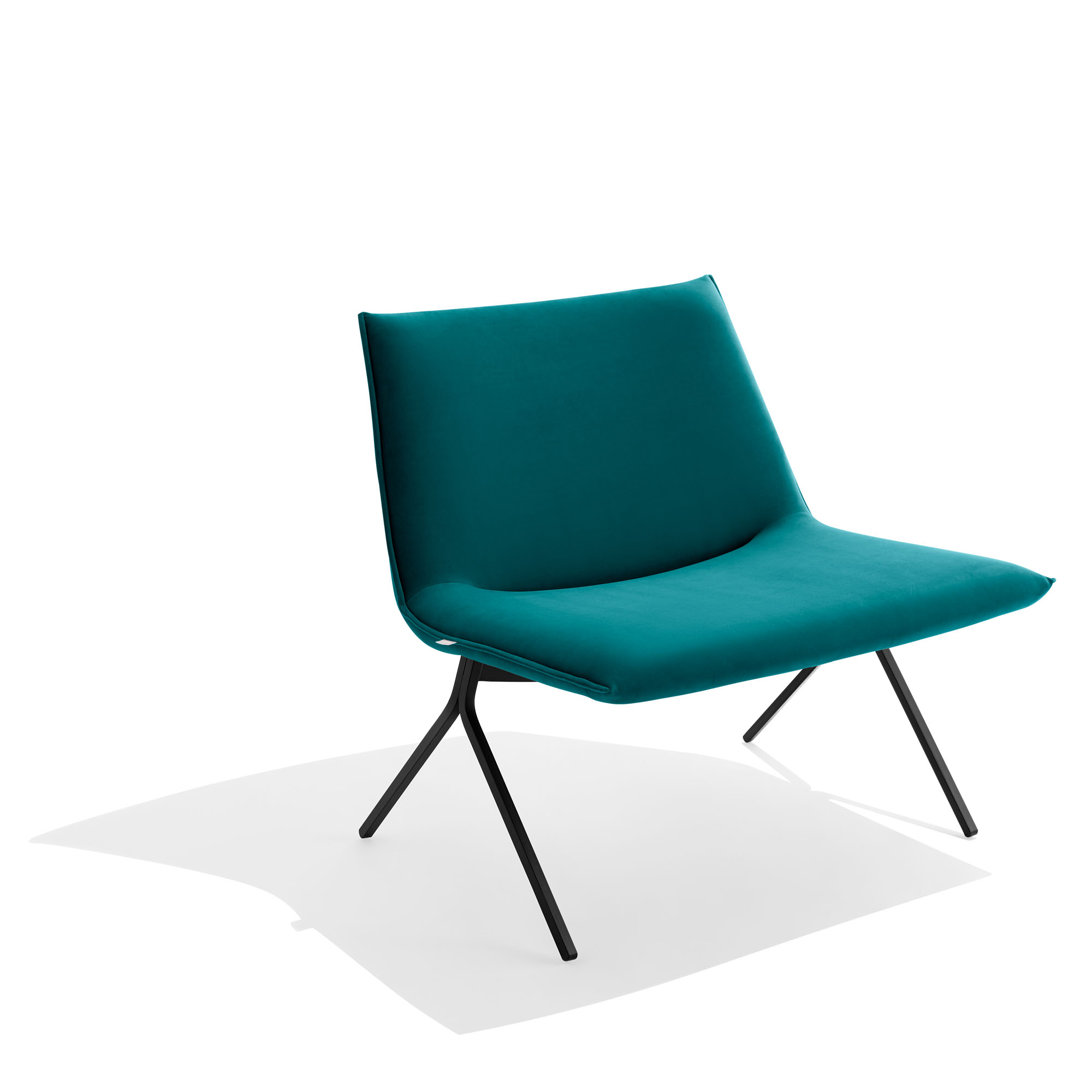 Tremendous Velvet Meredith Lounge Chair Modern Office Furniture Poppin Gmtry Best Dining Table And Chair Ideas Images Gmtryco