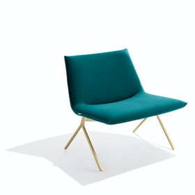 Teal + Brass Velvet Meredith Lounge Chair