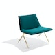 Teal + Brass Velvet Meredith Lounge Chair,Teal,hi-res