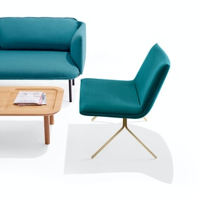 Teal + Brass Velvet Meredith Lounge Chair