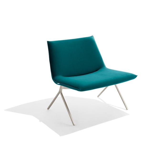 Teal + Nickel Velvet Meredith Lounge Chair,Teal,hi-res