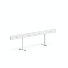 "White Boom Power Rail for 4, 50"",White,hi-res"