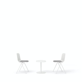 White Key Side Chairs + Tucker Side Table Set