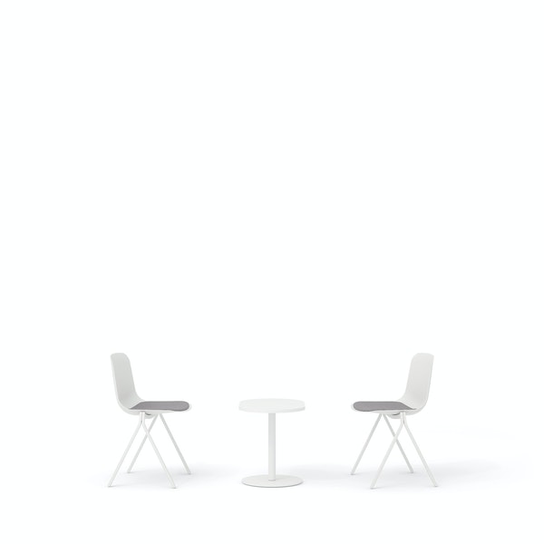 White Key Side Chairs + Tucker Side Table Set,White,hi-res