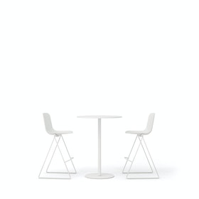 White Key Stools + Tucker Standing Table Set