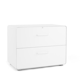 White Stow 2-Drawer Lateral File Cabinet