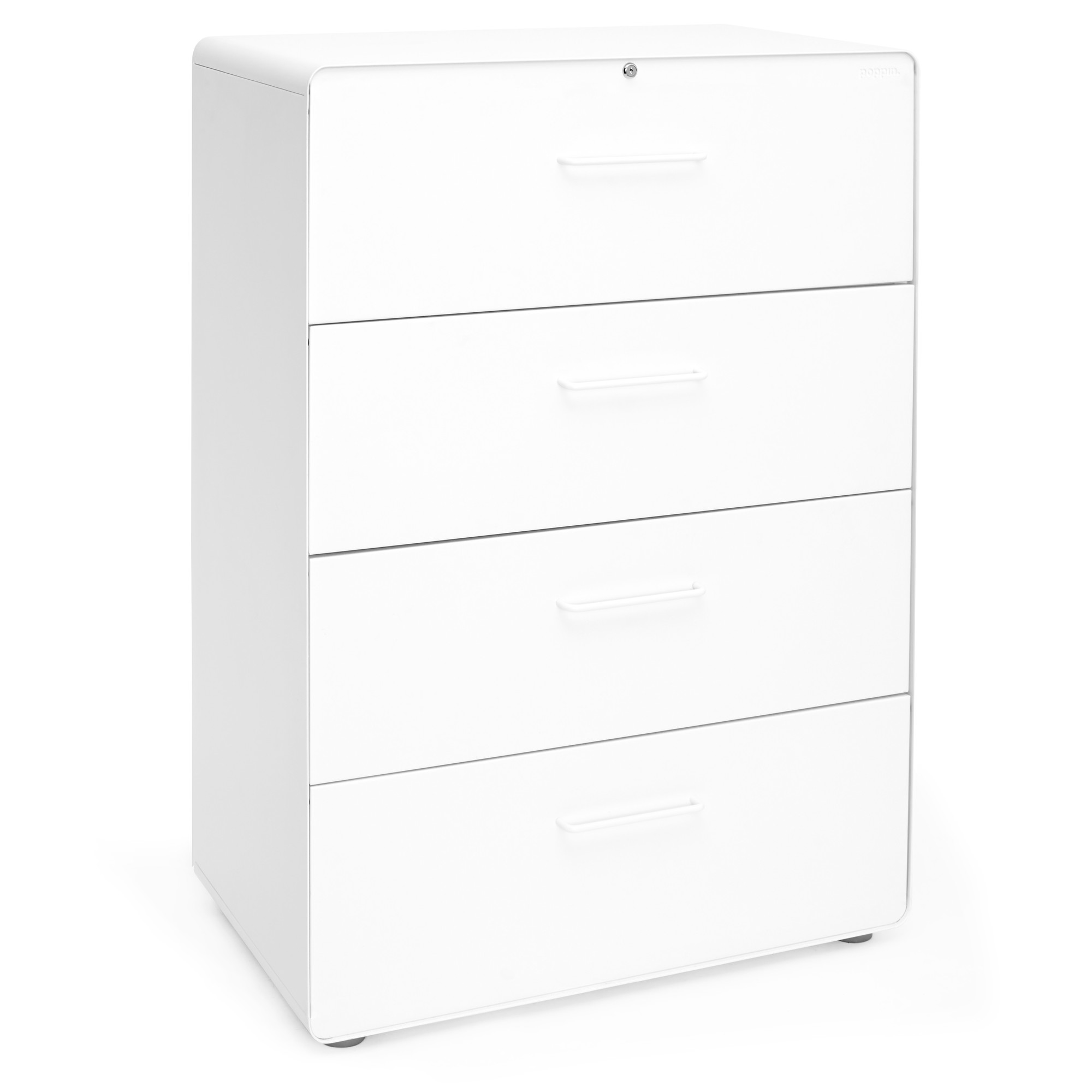 White Stow 4 Drawer Lateral File