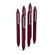 Wine Retractable Gel Luxe Pens w/ Black Ink, Set of 6,Wine,hi-res