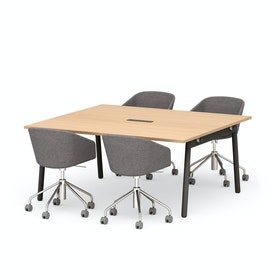 Series A Scale Rectangular Conference Table, Charcoal Legs
