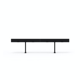 "Black Boom Power Rail for Raise Desks, 100""L"