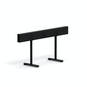 "Black Boom Power Rail for Raise Desks, 50""L"