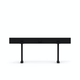 "Black Boom Power Rail for Raise Desks, 60""L"