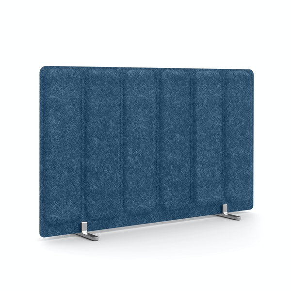 "Dark Blue Pinnable Molded Privacy Panel, 28 x 17.5"", Footed,Dark Blue,hi-res"