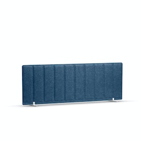 """Dark Blue Pinnable Molded Privacy Panel, 47 x 17.5"""", Footed"""