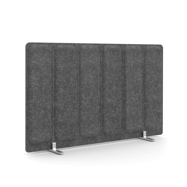 "Dark Gray Pinnable Molded Privacy Panel, 28 x 17.5"", Footed,Dark Gray,hi-res"