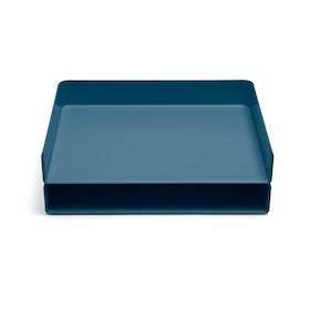 Slate Blue Landscape Letter Tray,Slate Blue,hi-res