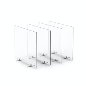 "Clear Protective Acrylic Shields, Set of 4, 27 x 23.5"", Footed"