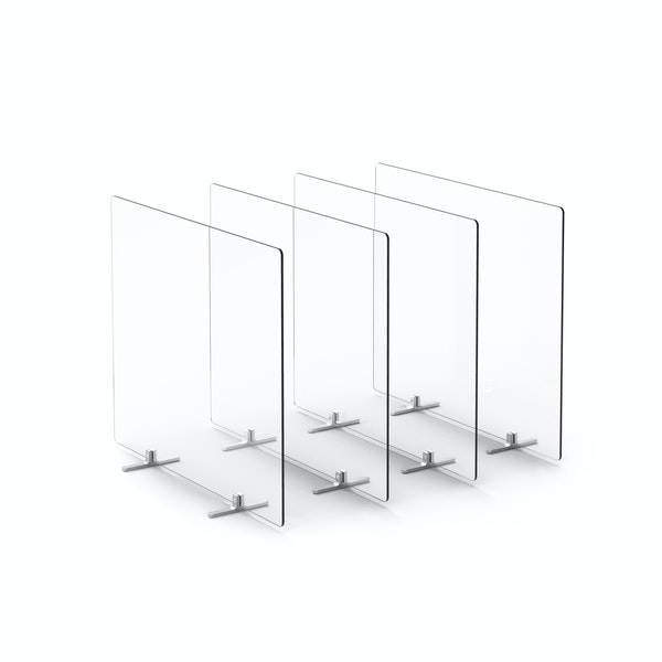 "Clear Protective Acrylic Shields, Set of 4, 27 x 23.5"", Footed,,hi-res"