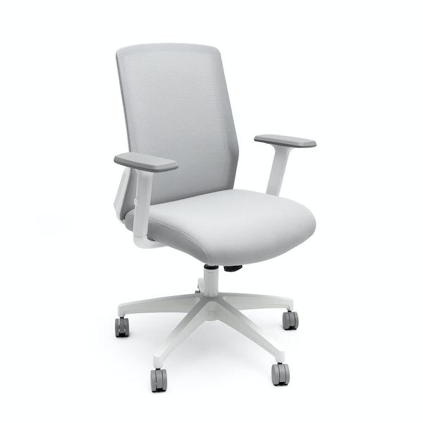 White Nomad Task Chair,White,hi-res