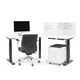 Series L Adjustable Height 120 Degree Desk, White, Charcoal Legs,,hi-res