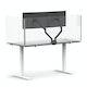 "Clear Protective Acrylic Shield for Series A and Series L Desks, 58"",,hi-res"