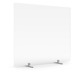"""Tall Frost White Privacy Panel, 27"""", Footed"""